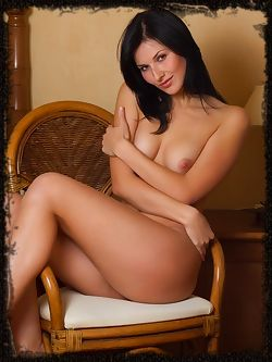 Warm and inviting charmer with amazingly supple body and alluring poses.