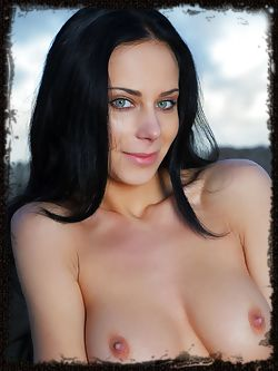 Long black hair accentuating her sultry face and dazzling blue eyes and a spectacular body with firm and well-toned assets, a naked Lydia A is a sight you simply don't want to miss.